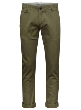 Twistel Twill Olive - Knowlegde Cotton Apparel