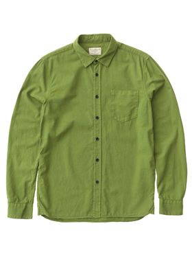 Men_Overhemd_Henry Batiste Garment Dye Pea_Nudie