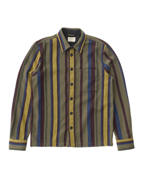 Men_Overhemd_Sten Wool Club Stripes_Nudie