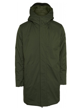 Knowledge Cotton Apparel - Long soft shell jacket Green